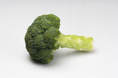Fresh Broccoli isolated on a over white background Royalty Free Stock Photo