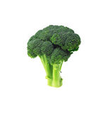 Fresh broccoli isolated on white Stock Photo