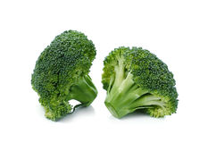 Fresh broccoli isolated on a white background Royalty Free Stock Image