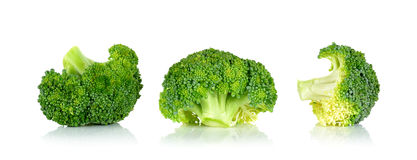 Fresh broccoli isolated on the white background Royalty Free Stock Photography