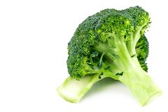 Fresh broccoli isolated on white background. With clipping path.  Royalty Free Stock Images