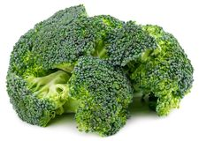 Fresh broccoli isolated on white background. With clipping path.  Royalty Free Stock Image