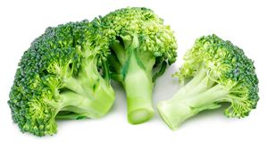 Fresh broccoli isolated on white background. With clipping path.  Royalty Free Stock Photo