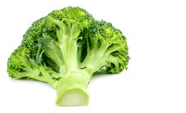 Fresh broccoli isolated on white background. With clipping path. Full depth of field Royalty Free Stock Photography