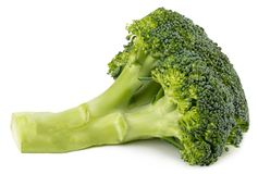 Fresh broccoli isolated on white background. With clipping path. Full depth of field Stock Images