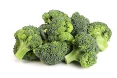 Fresh broccoli isolated on white background, healthy food.  Stock Photo