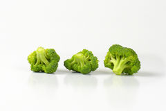 Fresh broccoli pieces. On-off white background Royalty Free Stock Photos