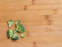 Fresh broccoli solated on a wooden background Stock Image