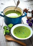 Fresh broccoli soup Stock Photo