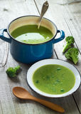 Fresh broccoli soup Royalty Free Stock Photo