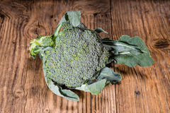 Fresh broccoli on a table stock images