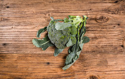 Fresh broccoli on a table Royalty Free Stock Image