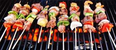 Fresh Brochettes Royalty Free Stock Photos