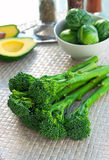 Fresh brocolli on a table Stock Images