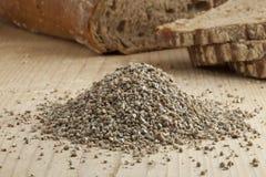 Fresh broken rye seeds Stock Images