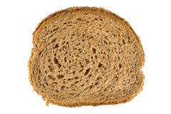 Fresh brown bread slice Royalty Free Stock Images