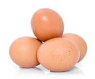 Fresh brown chicken eggs Stock Photos