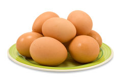Fresh brown chicken eggs Stock Images