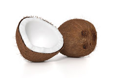 Fresh brown coconut Royalty Free Stock Photo