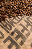 Fresh Brown coffee caffeine bean background Royalty Free Stock Image
