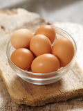 Fresh brown eggs Stock Photography