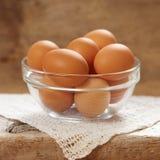 Fresh brown eggs Royalty Free Stock Photo