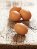Fresh brown eggs Stock Photo