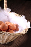 Fresh brown eggs Royalty Free Stock Photography