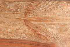 Fresh brown, larch wood board texture. With interesting pattern Royalty Free Stock Images