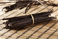 Fresh Brown Organic Vanilla Bean Royalty Free Stock Photography