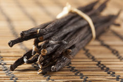 Fresh Brown Organic Vanilla Bean. Against a background Stock Photography