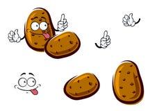 Fresh brown potato cartoon vegetables Stock Photography