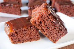 Fresh brownies Stock Image