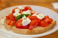 Fresh bruschetta Stock Image