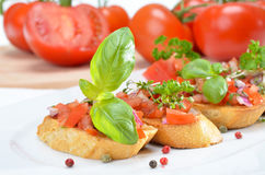 Fresh bruschetta Royalty Free Stock Photo