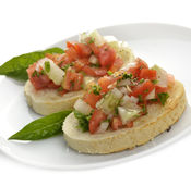 Fresh Bruschetta Stock Image