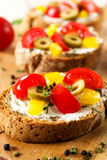 Fresh bruschetta Stock Photography