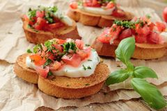 Fresh bruschetta Royalty Free Stock Image