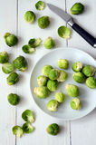 Fresh brussel sprouts Royalty Free Stock Image