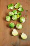 Fresh Brussels sprouts. On the table Royalty Free Stock Image