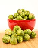 Fresh Brussels sprouts in a bowl Stock Image
