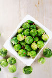 Fresh Brussels Sprouts on Bowl on Top of the Table Royalty Free Stock Image