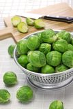 Fresh brussels sprouts. Close up Stock Image