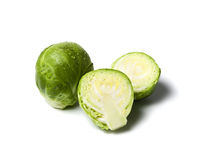 Fresh brussels sprouts isolated Stock Photos