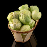 Fresh brussels sprouts Stock Photos