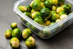 Fresh brussles sprouts Stock Image