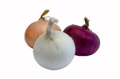 Fresh bulbs of colorful onions Stock Photo