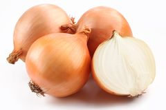 Fresh bulbs of onion Royalty Free Stock Photo