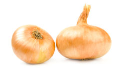 Fresh bulbs of onion isolated on a white background cutout Stock Image