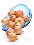 Fresh Bulbs Of Yellow Onion On White Background Royalty Free Stock Images